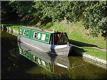 SJ8512 : Narrowboat moored near Wheaton Aston, Staffordshire by Roger  Kidd
