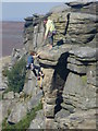 SK2483 : Rock climbers on Stanage Edge by Graham Hogg
