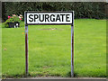 TQ6193 : Spurgate sign by Adrian Cable