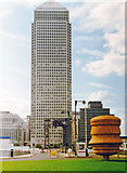 TQ3880 : London Docklands Development, 1996: Canary Wharf Tower from Trafalgar Way by Ben Brooksbank