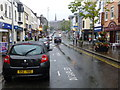 H4572 : A wet day, High Street, Omagh by Kenneth  Allen