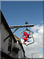 TQ6794 : The Red Lion Public House sign by Geographer