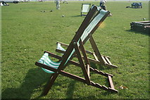 TQ2780 : View of deckchairs in the sun in Hyde Park #3 by Robert Lamb