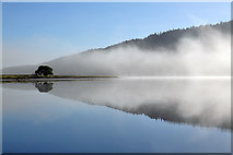 NT2623 : Mist rising off St Mary's Loch by Walter Baxter