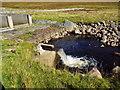 NH3775 : Spout at sluice on Abhainn Srath Rainich north of Garve by ian shiell