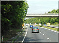 SU4989 : Cow Lane goes over the A34 by Ian S