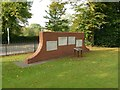 SK5878 : Memorial wall by Alan Murray-Rust