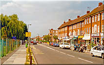 TQ2367 : Merton, 1997: Lower Morden, shops on Grand Drive by Ben Brooksbank