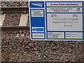 NT3268 : Network Rail Access Point Information by M J Richardson