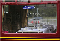 NT5234 : A first class coach window on the steam special at Tweedbank Station by Walter Baxter