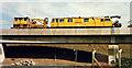 J3474 : Weir and cross-harbour bridges, Belfast  (September 1994) by Albert Bridge