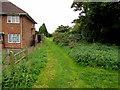 SP2763 : Grassy brookside track, Warwick by Jaggery