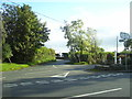 SN1812 : Tavernspite - road junction and village pumps by welshbabe