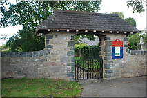 SH5065 : Porth mynwent Eglwys y Santes Fair - St Mary's Church lychgate by Alan Fryer