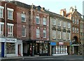 SK5878 : Buildings on Bridge Street facing the Market Place by Alan Murray-Rust