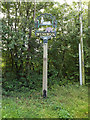 TM1861 : Winston Village sign by Geographer