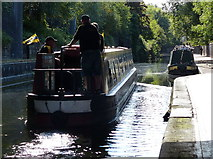 SP0686 : Narrowboat on the Worcester and Birmingham Canal by Mat Fascione