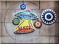 SJ8498 : Spaceship on the Wall, Union Street by David Dixon