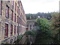 SE2734 : Leeds Industrial Museum: mill pond by Stephen Craven