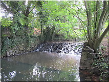 TQ2992 : Weir on Pymme's Brook in Arnos Park (2) by Mike Quinn