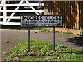 TM1762 : Moores Close sign by Adrian Cable