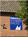 TM1762 : Debenham Veterinary Practice sign by Geographer