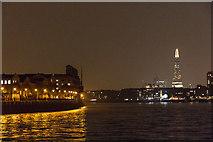 TQ3680 : River Thames at Night by Christine Matthews