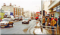 TQ2375 : Putney in depth of winter, 1991: northward on High Street by Ben Brooksbank