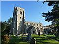 TL6370 : Sunlit church in Fordham by Richard Humphrey