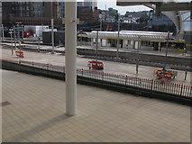 SJ8499 : Manchester Victoria station: Metrolink platforms by Stephen Craven