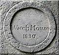 NJ1768 : An inscribed stone at Duffus Old Kirkyard by Walter Baxter