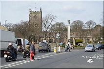 SD9951 : Church & War Memorial by N Chadwick