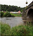 SO3700 : West across the Usk in Usk by Jaggery