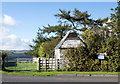 NY8777 : Small barn beside road entering Birtley by Trevor Littlewood