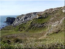 SW6813 : Cliffs at Yellow Carn by David Smith