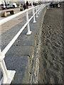 SN5881 : Cast-iron railings, Aberystwyth seafront by Robin Stott