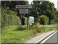 TM1165 : Roadsigns on the A140 Norwich Road by Adrian Cable