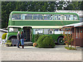 NT9350 : Bus cafe at the Chain Bridge Honey Farm by Oliver Dixon