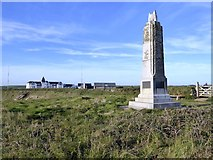 SW6619 : Marconi memorial, Angrouse Cliff by David Smith