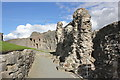 SJ0565 : Denbigh Castle, East Wall and Cool Basement by Jeff Buck