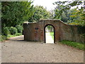 TQ7515 : Entrance to the Duchess of Cleveland's walled garden at Battle Abbey by PAUL FARMER