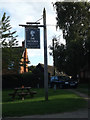 TM2363 : The Victoria Public House sign by Geographer