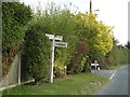 TM0214 : Roadsign on East Mersea Road by Adrian Cable
