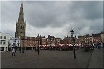 SK7953 : Market place and Parish church by Bob Harvey