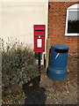 TM0414 : East Mersea Post Office Postbox by Geographer