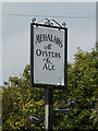 TM0414 : Mehalah's at Oysters & Ale Restaurant sign by Adrian Cable