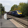 SO8005 : Paddington train approaches Stonehouse station by Jaggery