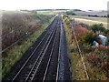 NT9160 : East Coast Main Line near Horn Burn by Oliver Dixon