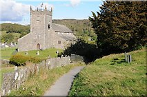 SD3598 : Footpath to Hawkshead church by Philip Halling