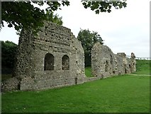 TQ4109 : St Pancras Priory, Lewes - Wall of Refectory by Rob Farrow